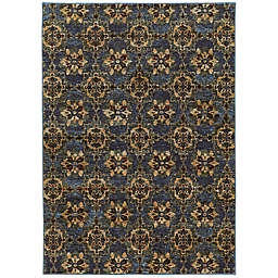 Amaya Rugs Allington Warren Rug in Blue