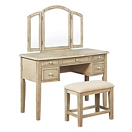 Powell St. John's 3-Piece Vanity Set in Brown