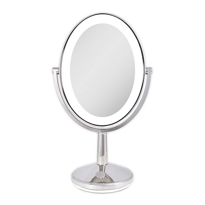 Alternate image 1 for Zadro® Huntington 5x/1x LED Oval Rechargeable Vanity Mirror