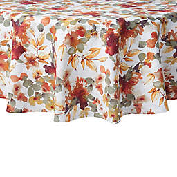 Autumn Trail 70-Inch Round Twill Tablecloth