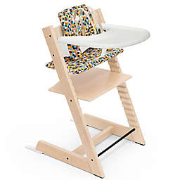 Stokke® Tripp Trapp® High Chair Complete in Natural with Honeycomb Happy Cushion