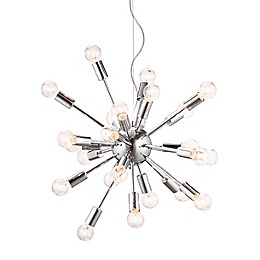 Zuo® Accents Pulsar 24-Light Chrome Ceiling Lamp