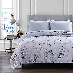 Marble 4-Piece Reversible Quilt Set