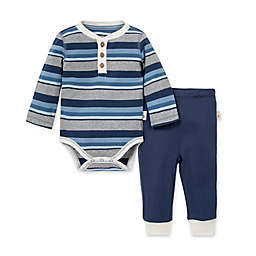Burt's Bees Baby® Preemie 2-Piece Foothills Stripe Organic Cotton Bodysuit and Pant Set