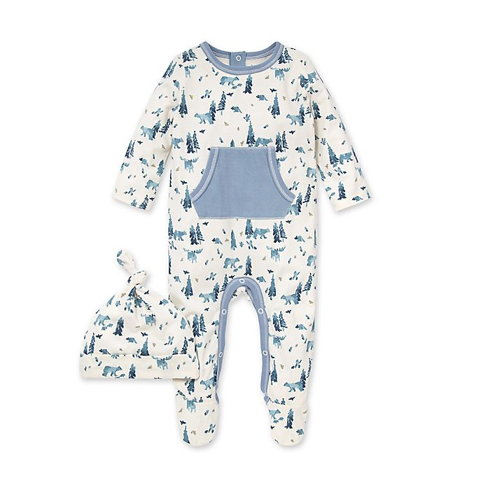 Alternate image 1 for Burt's Bees Baby® 2-Piece Organic Cotton Baby Bear Jumpsuit and Hat Set