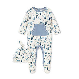 Burt's Bees Baby® Size 9M 2-Piece Organic Cotton Baby Bear Jumpsuit and Hat Set