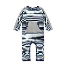 Burt's Bees Baby® Newborn Miles and Miles Stripe Jumpsuit in Blue