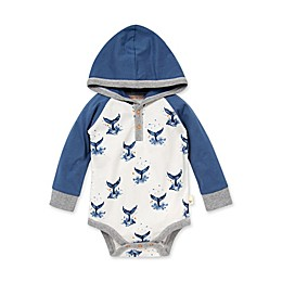 Burt's Bees Baby® Organic Cotton Big Splash Hooded Bodysuit in Blue
