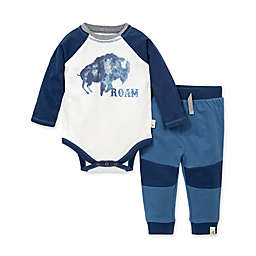Burt's Bees Baby® Roam Organic Cotton Tee and French Terry Pant Set in Blue