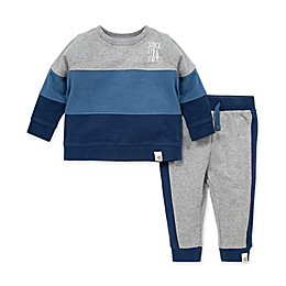 Burt's Bees Baby® Organic Cotton Colorblocked French Terry Sweatshirt and Pant Set