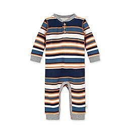 Burt's Bees Baby® Organic Cotton Thermal Multi-Stripe Henley Jumpsuit