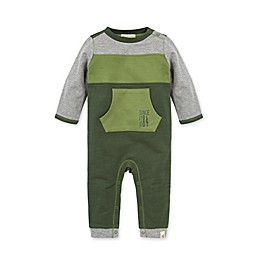 Burt's Bees Baby® Organic Cotton French Terry Colorblocked Jumpsuit in Green