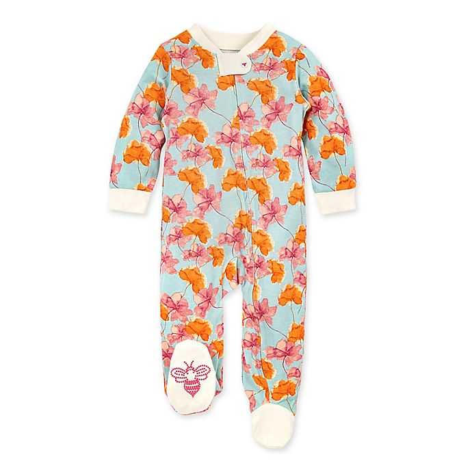 Alternate image 1 for Burt's Bees Baby® Wild Autumn Footie in Floral
