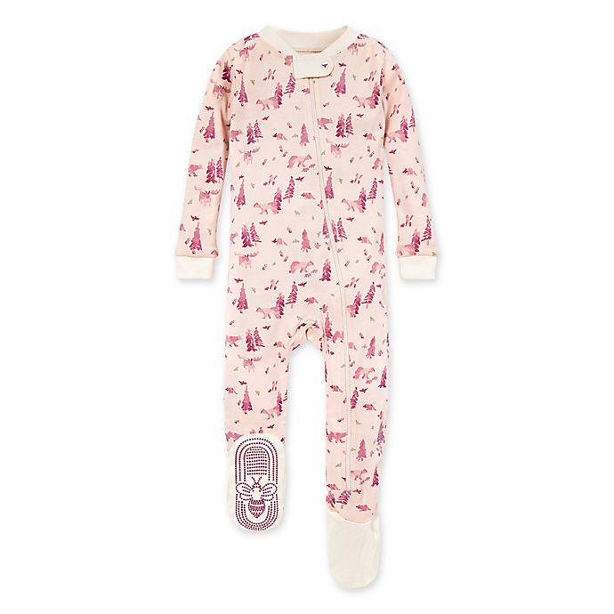 Alternate image 1 for Burt's Bees Baby® Baby Bear Organic Cotton Sleeper in Ocean/Mist