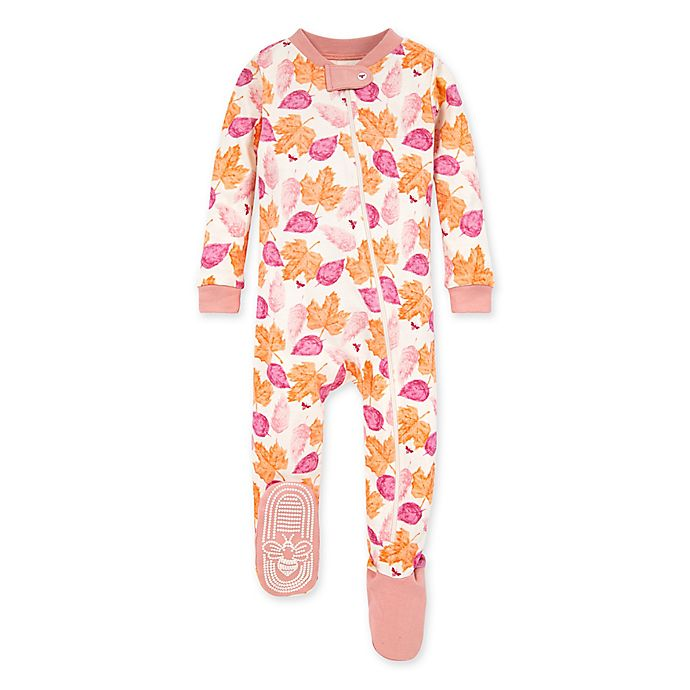 Alternate image 1 for Burt's Bees Baby® Seasons Change Footed Pajama in Rose Quartz
