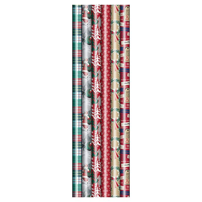 Alternate image 1 for Winter Wonderland 40-Inch Jumbo Traditional 2020 Assorted Wrapping Paper