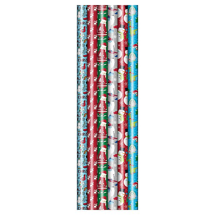 Alternate image 1 for Winter Wonderland 40-Inch Jumbo Juvenile 2020 Assorted Wrapping Paper