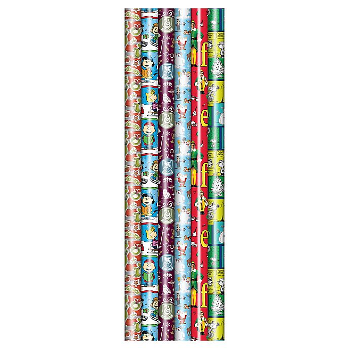 Alternate image 1 for Winter Wonderland 40-Inch Licensed Novelty Assorted Wrapping Paper