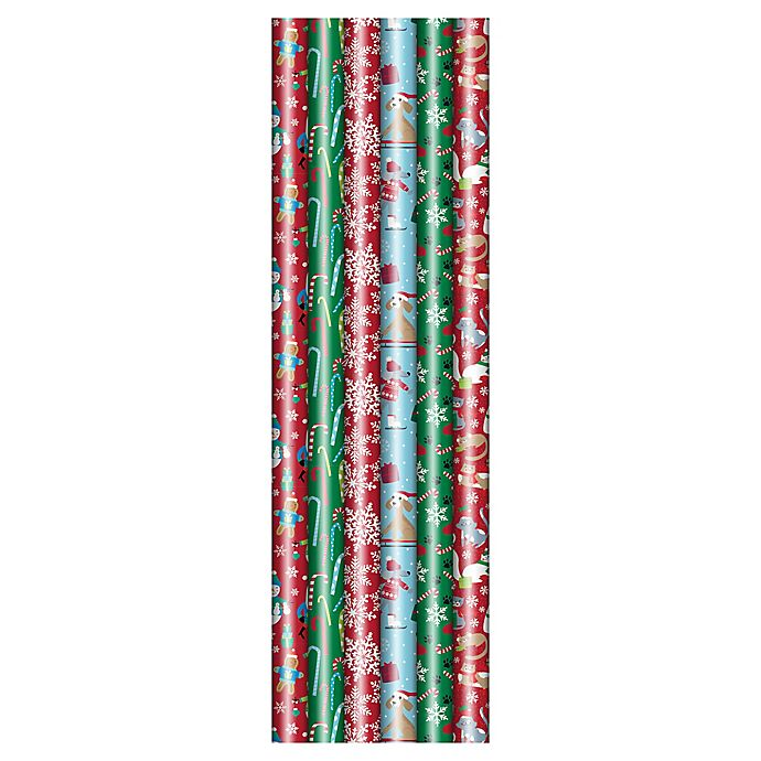 Alternate image 1 for Winter Wonderland 30-Inch Jumbo Juvenile Wrapping Paper