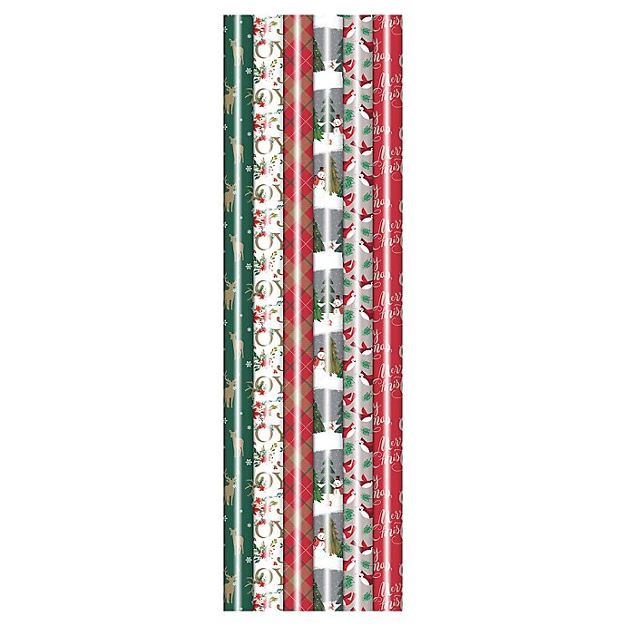 Alternate image 1 for Winter Wonderland 31-Inch Affordable Luxury Assorted Wrapping Paper