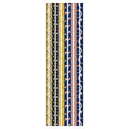 Winter Wonderland 31-Inch Assorted Glam Metallic Foil Wrapping Paper