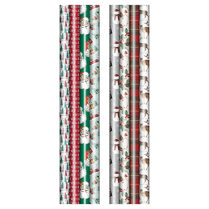 Alternate image 1 for Winter Wonderland Assorted Traditional/Whimsical Christmas Wrapping Paper (Set of 4)