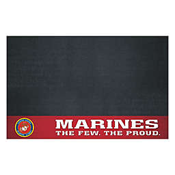 """United States Marines 26"""" x 42"""" Grill Mat in Maroon"""
