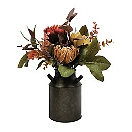 Bee & Willow™ Home Floral Arrangement in Galvanized Container