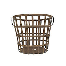 Bee & Willow™ Home Round Bamboo Basket in Brown