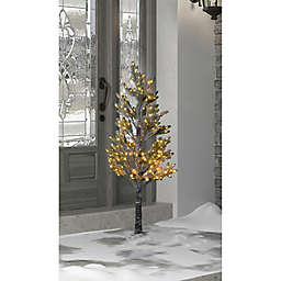 4-Foot Pre-Lit Pine Artificial Christmas Tree in Green