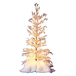 36-Inch LED Ice Tree in Silver/White