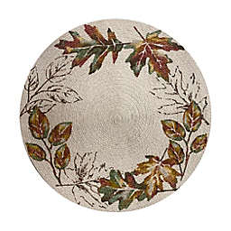 Autumnal Breeze Leaf Braided Round Placemat