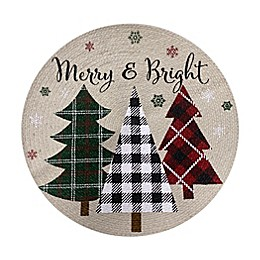 Merry and Bright Braided Round Placemat
