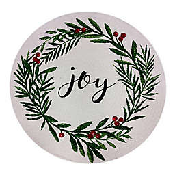 Bee & Willow™ Home Joy Holiday Holly Wreath Braided Round Placemat