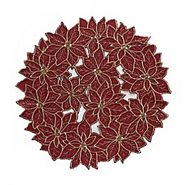 Poinsettia Holiday Placemat in Red