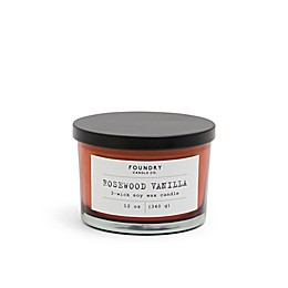Foundry Candle Co. Typewriter Rosewood Vanilla 3-Wick Scented Candle in Rust