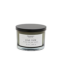 Foundry Candle Co. Typewriter Wild Fern 3-Wick Scented Candle in Green