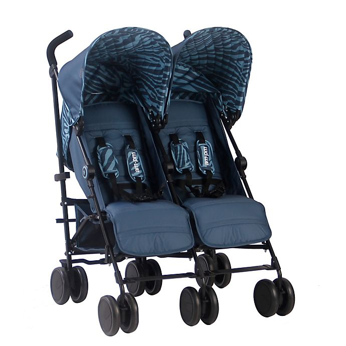 Alternate image 1 for Your Babiie AM:PM By Christina Milian Chelsea Double Stroller in Tiger