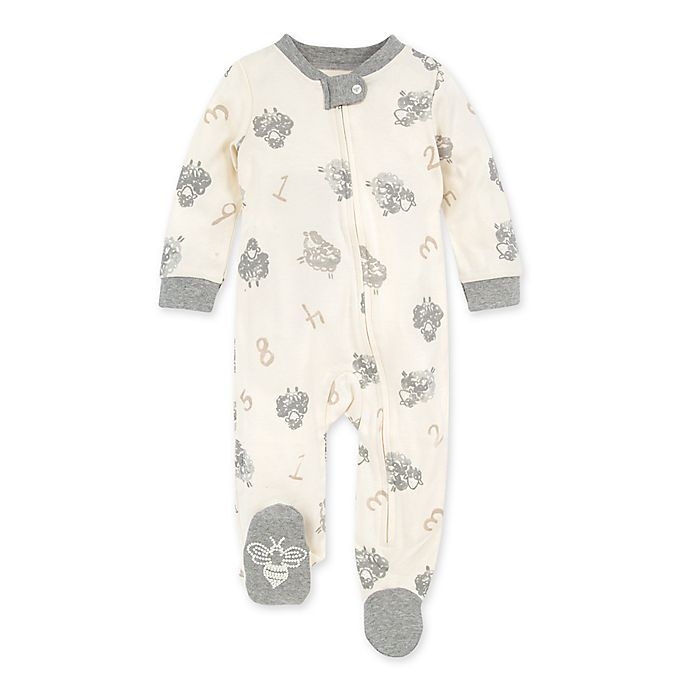 Alternate image 1 for Burt's Bees Baby® Newborn Counting Sheep Organic Cotton Sleep 'N Play in Eggshell