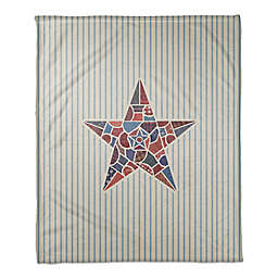 Patchwork American Star 50x60 Throw Blanket