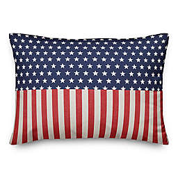 Designs Direct America Stars and Stripes Oblong Throw Pillow