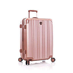 Heys® DuoTrak 26-Inch Hardside Spinner Checked Luggage in Rose Gold