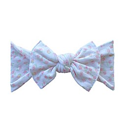 Baby Bling Printed Knot Headband in Chamomile