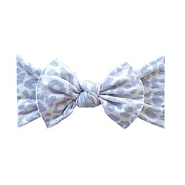 Baby Bling Printed Knot Headband in Snow Leopard