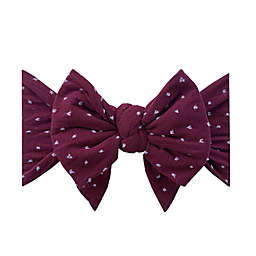 Baby Bling One Size Dang Enormous Bow in Burgundy/White Dot