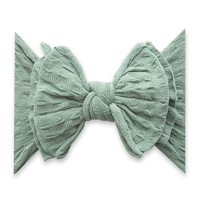 Alternate image 1 for Baby Bling One Size WAFFLE FAB-BOW-LOUS Headband in Sage