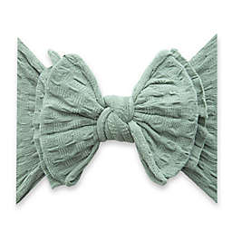 Baby Bling One Size WAFFLE FAB-BOW-LOUS Headband in Sage