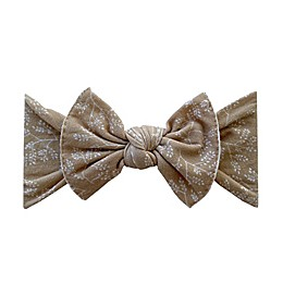 Baby Bling Printed Knot Headband in Gold Branch