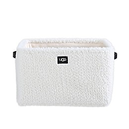 UGG® Pitkin Faux Fur Storage Bin in Snow