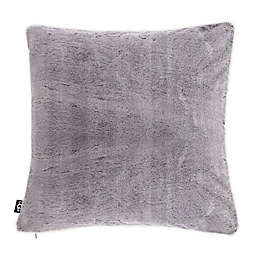 UGG® Dawson Tipped Faux Fur Square European Throw Pillow in Feather